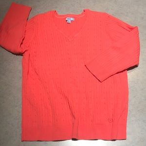Izod  cable front sweater Sz XL